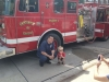 Mancina poses with a friend at Engine 2.