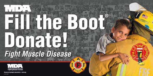 fill the boot for mda hamtramck firefighters